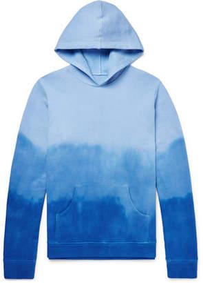 The Elder Statesman Dip-Dyed Dégradé Fleece-Back Cotton-Jersey Hoodie