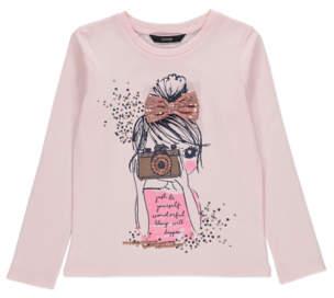 Bell Pink Embellished Long Sleeve Top