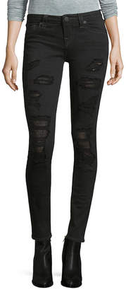 True Religion Distressed Super Skinny Pant/Black