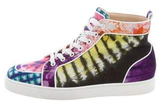 Christian Louboutin Canvas High-Top Sneakers