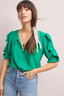 Maeve Hina Puff-Sleeved Blouse