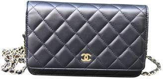 Chanel Wallet on Chain Navy Leather Handbag
