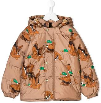 Mini Rodini ducks print puffer jacket