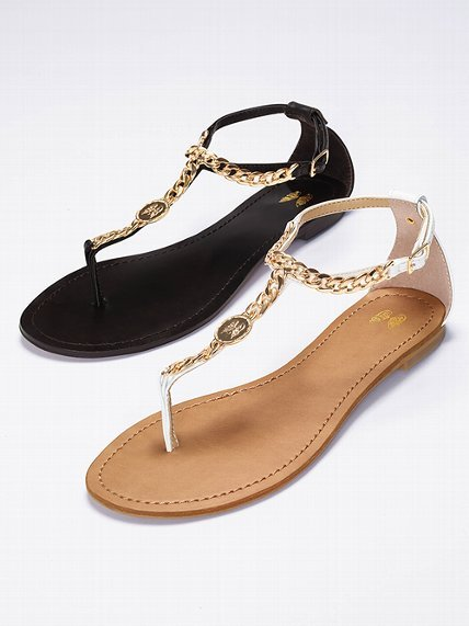 Victoria's Secret Collection Chain T-strap Flat