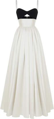 Rasario Cut Out Silk-Blend Full Gown