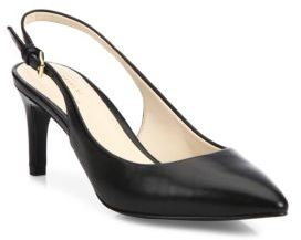 Cole Haan Medora Leather Point Toe Slingbacks $150 thestylecure.com