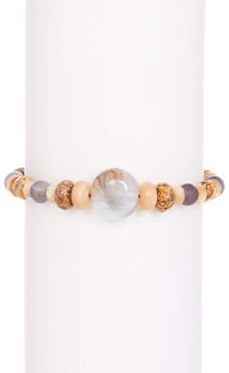 Chan Luu Sterling Silver Precious Stone Beaded Bracelet