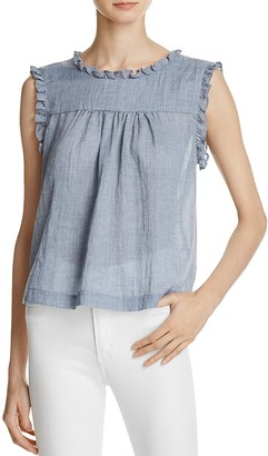 Beltaine Chambray Gauze Top $98 thestylecure.com