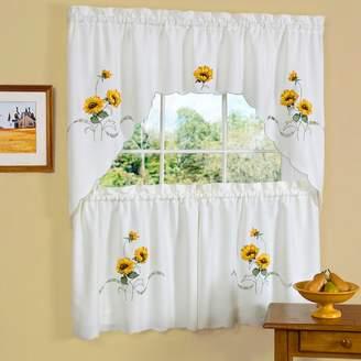 Kohl's Sunshine Sunflower Tier Swag Kitchen Window Curtain Set