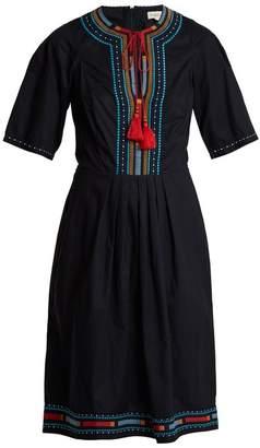 Talitha - Anita Embroidered Cotton Dress - Womens - Navy