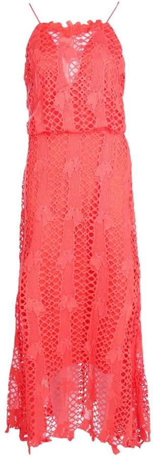 boohoo Boutique Hedvig Crochet Midi Dress