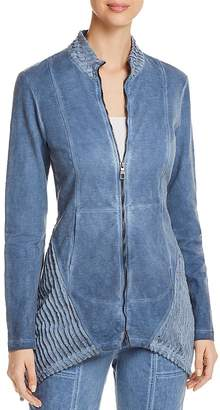 XCVI Mixed Media Zip-Front Jacket