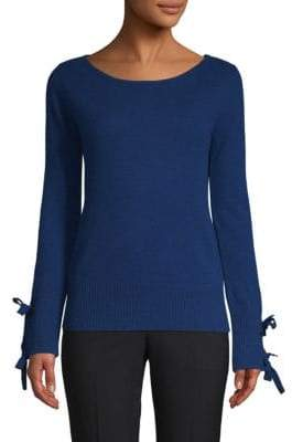 Tie-Accented Cashmere Sweater