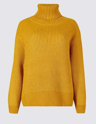 Marks and Spencer Textured Roll Neck Jumper