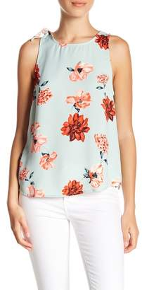 14th & Union Shoulder Tie Sleeveless Blouse (Petite Sizes Available)