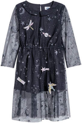 H&M Dress with a print motif - Blue