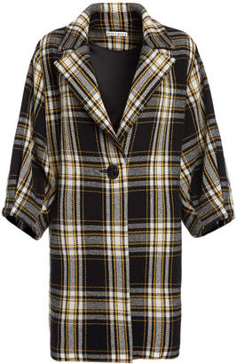 Alice + Olivia LANCE PLAID OVERSIZED COAT