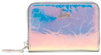 Christian Louboutin Panettone Iridescent Leather Coin Purse - Womens - Silver Multi