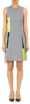Paco Rabanne WOMEN'S HOOK-AND-LOOP-EMBELLISHED SHIFT DRESS