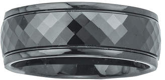 FINE JEWELRY Mens Ceramic Faceted Black Band Ring