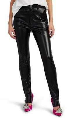 AKIRA NAKA Women's Faux-Leather Stirrup Leggings