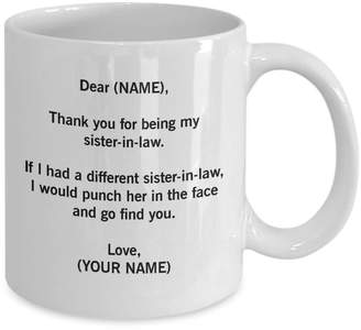 Tiffany & Co. Vincent Sister-In-Law Mug. Sister-In-Law Gift. Sister In Law Mug. Sister In Law Gift. Gift For Sister-In-Law. Wedding Gift. Wedding Mug. Sis In Law