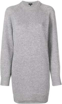 Theory fine knit crewneck sweater dress