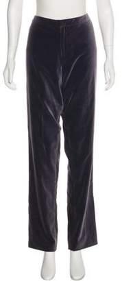Ellen Tracy Velvet High-Rise Straight Pants