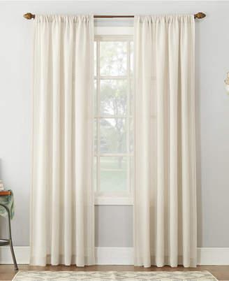 "Amalfi by Rangoni Lichtenberg No. 918 54"" X 84"" Linen Blend Textured Sheer Rod Pocket Curtain Panel"