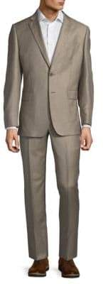 Saks Fifth Avenue Slim-Fit Wool & Silk Two-Button Suit
