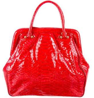 MCM Embossed Patent Leather Bag
