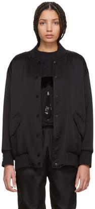 Fendi Black Pearls Bow Back Bomber Jacket