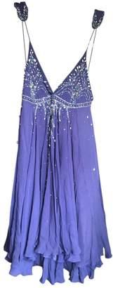 Matthew Williamson Purple Linen Dress for Women
