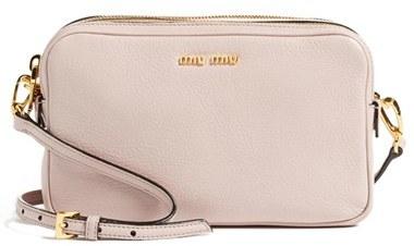 Miu MiuMiu Miu 'Madras' Goatskin Leather Crossbody Bag - Pink