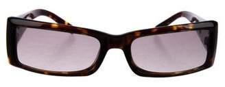 Miu Miu Narrow Tortoiseshell Sunglasses