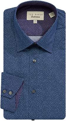 Ted Baker Endurance Slim-Fit Spot Print Cotton Dress Shirt