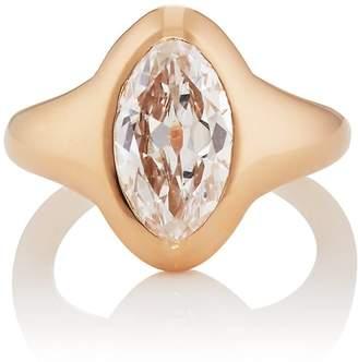 Munnu Women's Oval White Diamond Ring