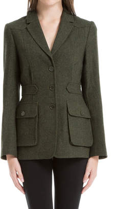 Max Studio heathered wool herringbone tailored jacket