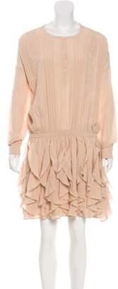 Faith Connexion Silk Lace Dress Pink Silk Lace Dress