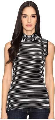 ATM Anthony Thomas Melillo Engineered Stripe Sleeveless Mock Neck Women's Sleeveless
