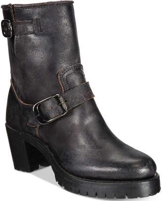 Frye Women's Sabrina Moto Engineer Boots Women's Shoes