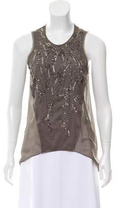 Helmut Lang Embellished Sleeveless Top