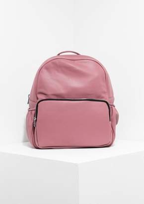 Missy Empire Missyempire Skye Pink Faux Leather Backpack