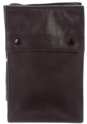 Lanvin Leather Geometric Wristlet