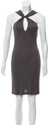 Tomas Maier Silk-Blend Mini Dress