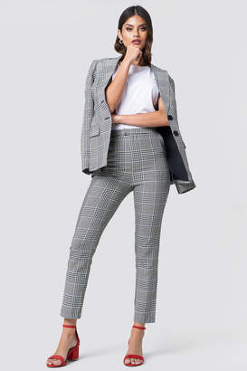 Na Kd Classic High Waist Checkered Suit Pant