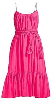 Rhode Resort Women's Lea Ruffled Fit-&-Flare Midi Dress