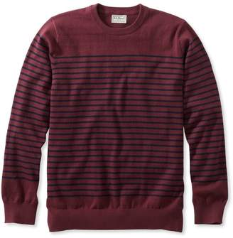 L.L. Bean L.L.Bean Cotton/Cashmere Sweater, Crewneck Stripe