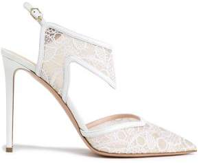 Nicholas Kirkwood Leather-Trimmed Lace Pumps