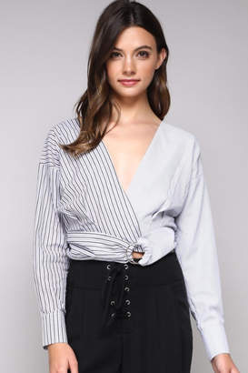 Do & Be Stripe Belted Top